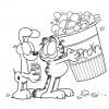 Desenhos para colorir Garfield 15