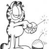 Desenhos para colorir Garfield 30