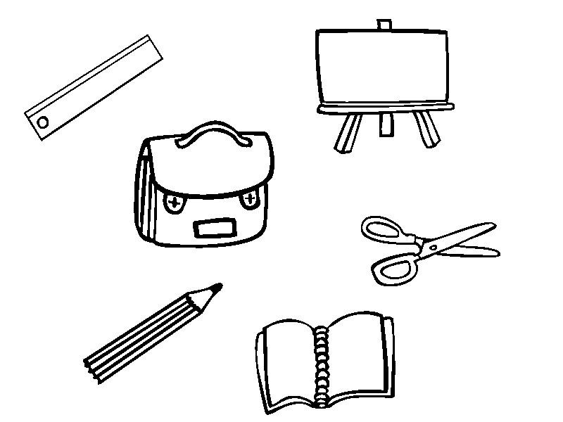 Desenhos Para Imprimir E Colorir De Materiais Escolares