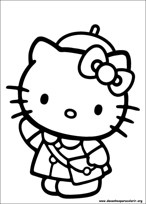 Dsenhos Para Imprimir E Colorir Da Hello Kitty