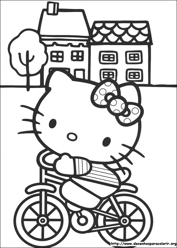 Dsenhos Para Imprimir E Colorir Da Hello Kitty