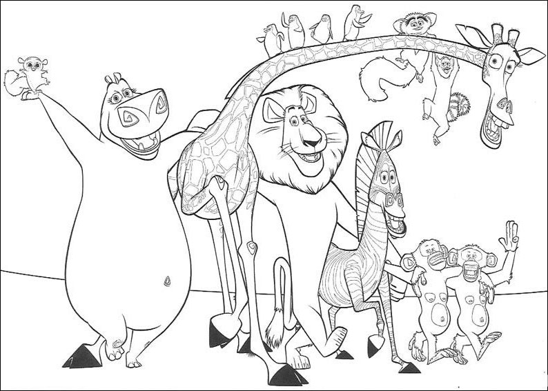 Lion King Monkey Coloring Pages