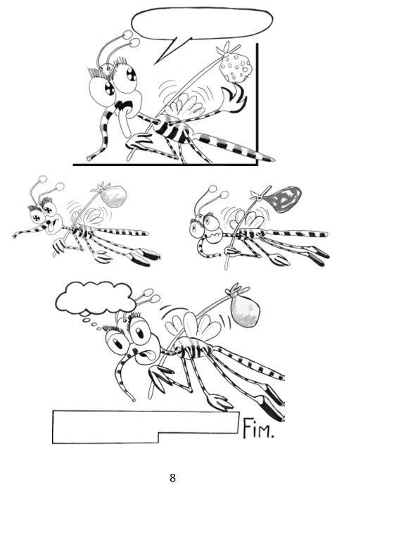 mosquito da dengue  atividades  desenhos  quadrinhos
