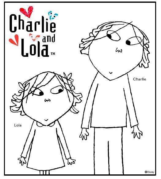 Bonito Dibujos De Charlie Y Lola Friso - Páginas Para Colorear ...