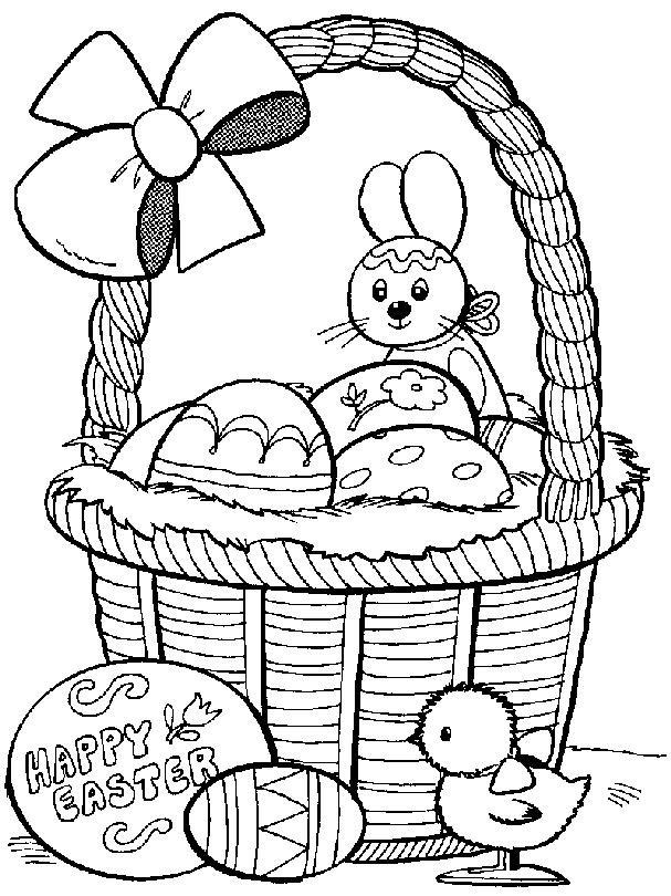 Desenhos Para Imprimir E Colorir Pascoa