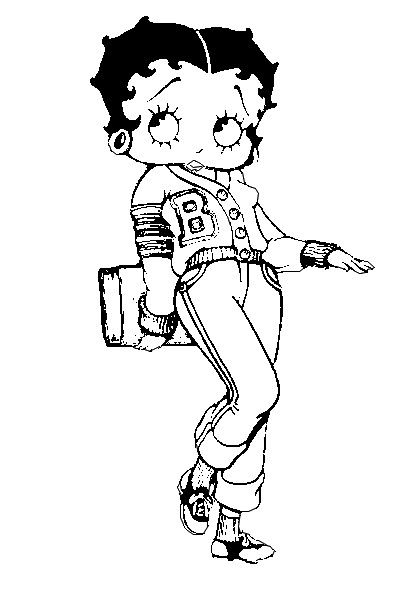 Desenhos para imprimir e colorir da Betty Boop
