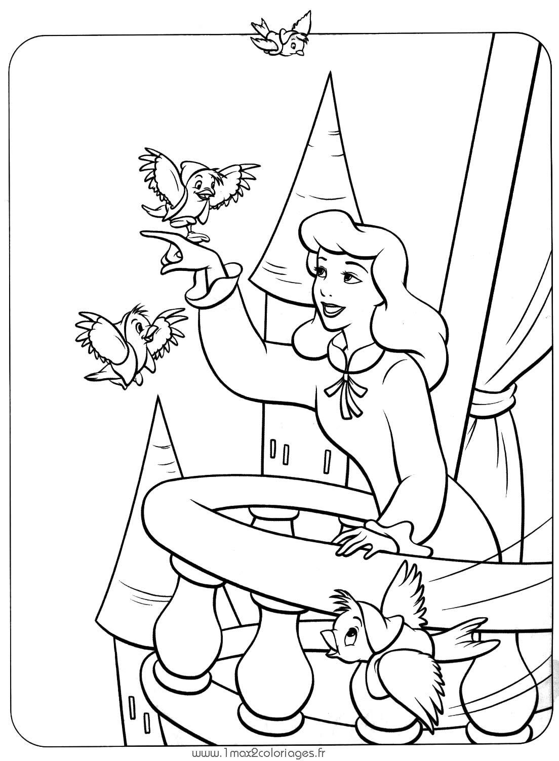 desenhos para colorir princesas disney