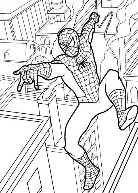 Desenhos Para Imprimir E Colorir Do Homem Aranha Spiderman