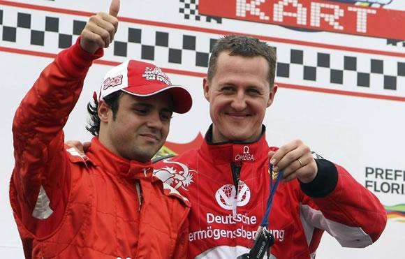 Felipe Massa e Michael Schumacher