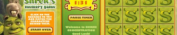 Jogo da mamória do Shrek