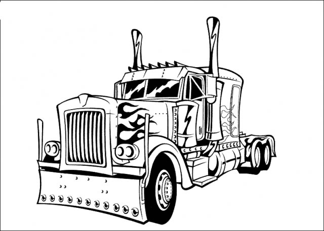Dibujos Para Colorear De Camiones 010 also Semi Truck Coloring Pages also How To Draw A Truck And Trailer besides Kraz c18 1 dump truck further Illustration Stock Dessin Du Camion Transportant Une Charge Image45662686. on kenworth trucks