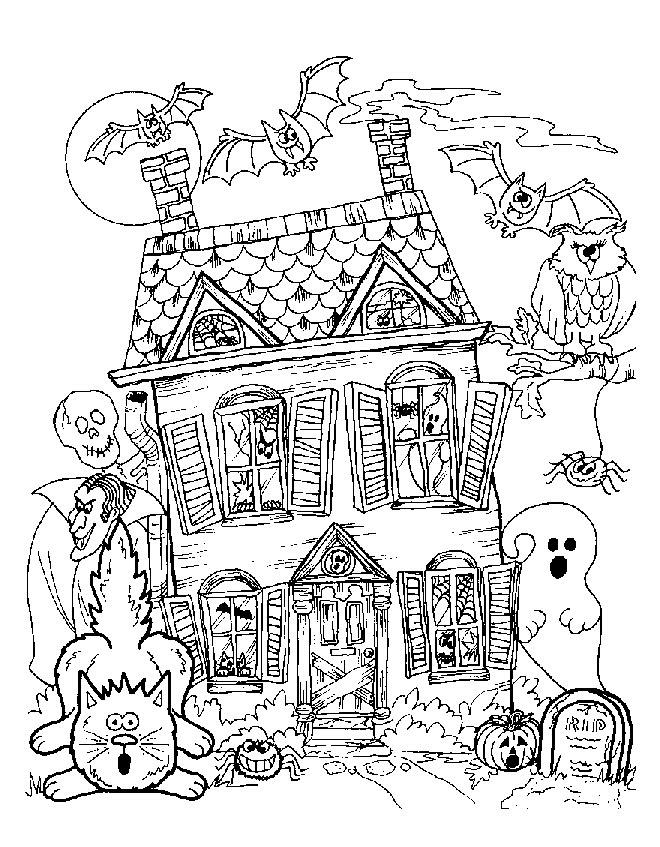 desenhos para imprimir colorir e pintar de halloween dia das bruxas