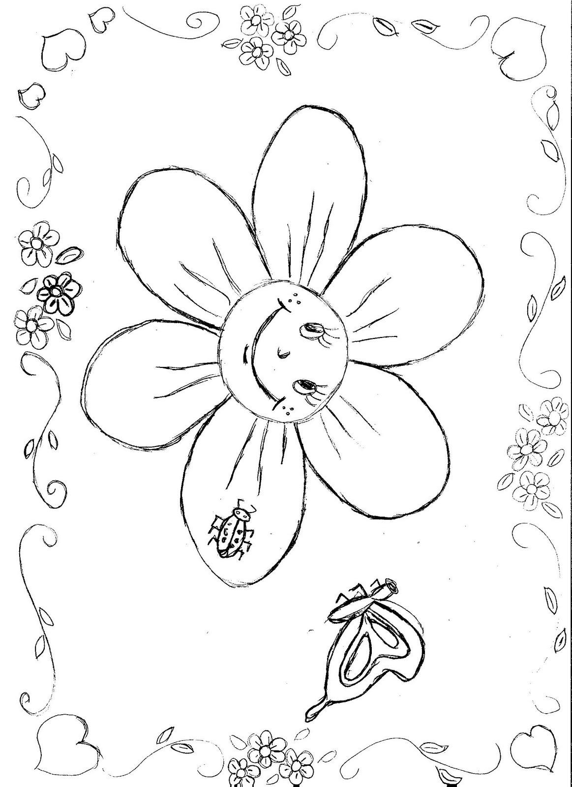 Confira 16 Desenhos Para Imprimir E Colorir De Primavera