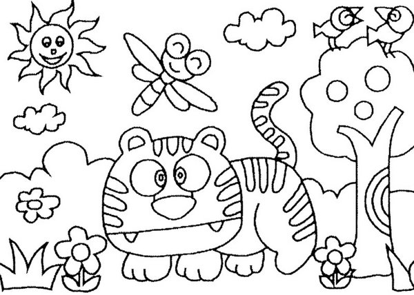 Desenhos Para Imprimir Colorir E Pintar Da Primavera Imagem