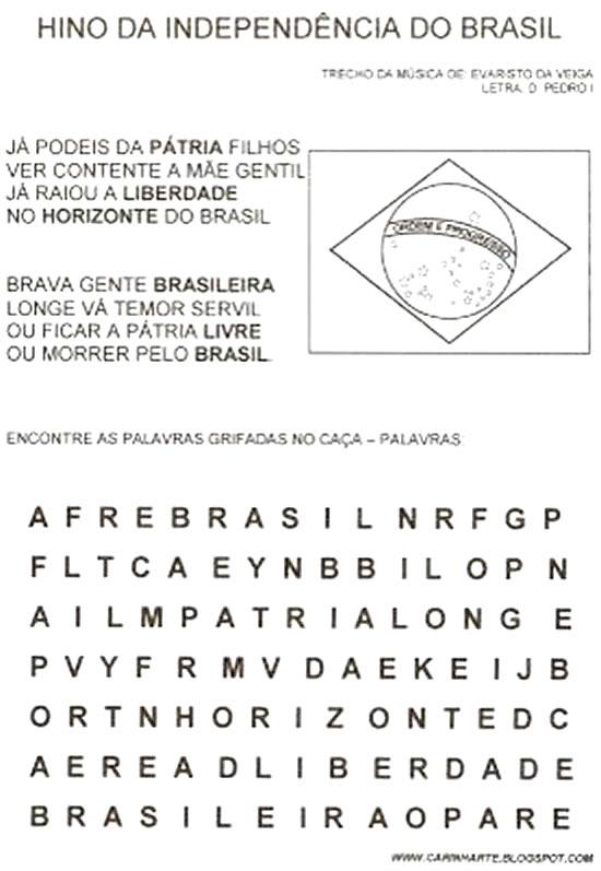 Top Atividades Independência do Brasil - Plano de aula - 7 de setembro NJ76