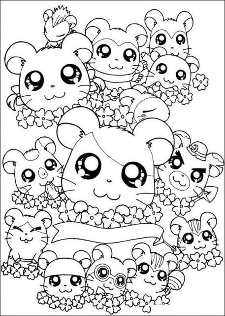 hamtaro coloring pages desenhos para imprimir colorir e pintar do hamtaro