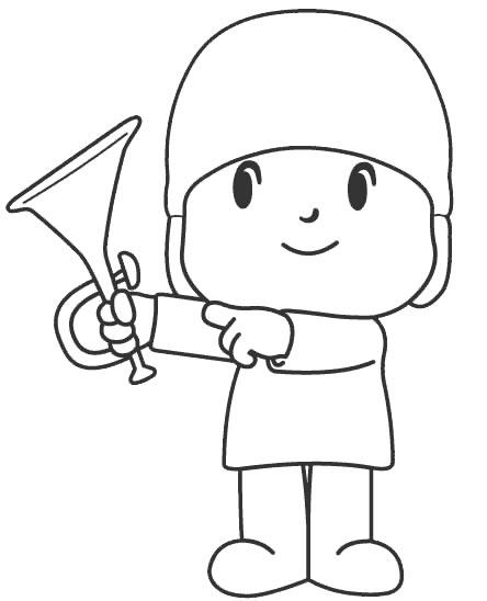 Desenhos para imprimir colorir e pintar do pocoyo - Dibujos para pintar camisetas infantiles ...