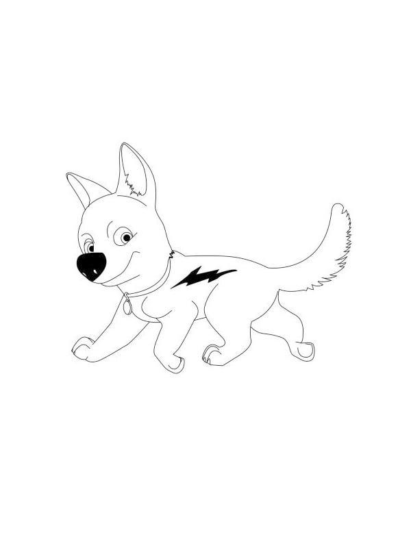 Desenhos Para Imprimir E Colorir De Bolt O Super Cao