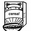 Cereais - Desenhos colorir alimentos 1