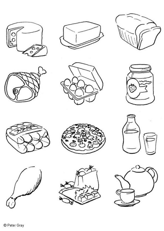 grains food group coloring pages - photo#23