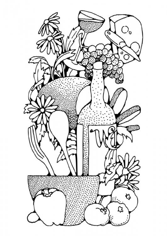 Desenhos Colorir Alimentos Diversos   02