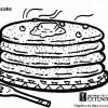 Panqueca - Desenhos colorir alimentos