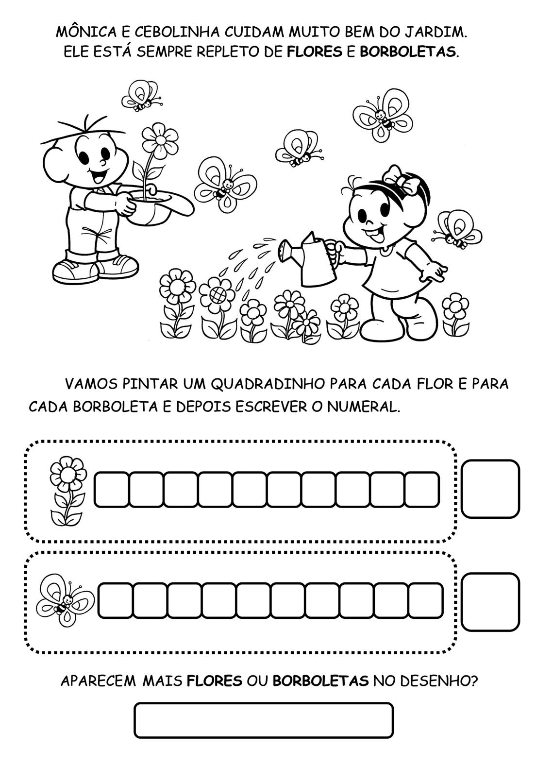 Muitas vezes Atividades para ensino infantil e fundamental Primavera RX76