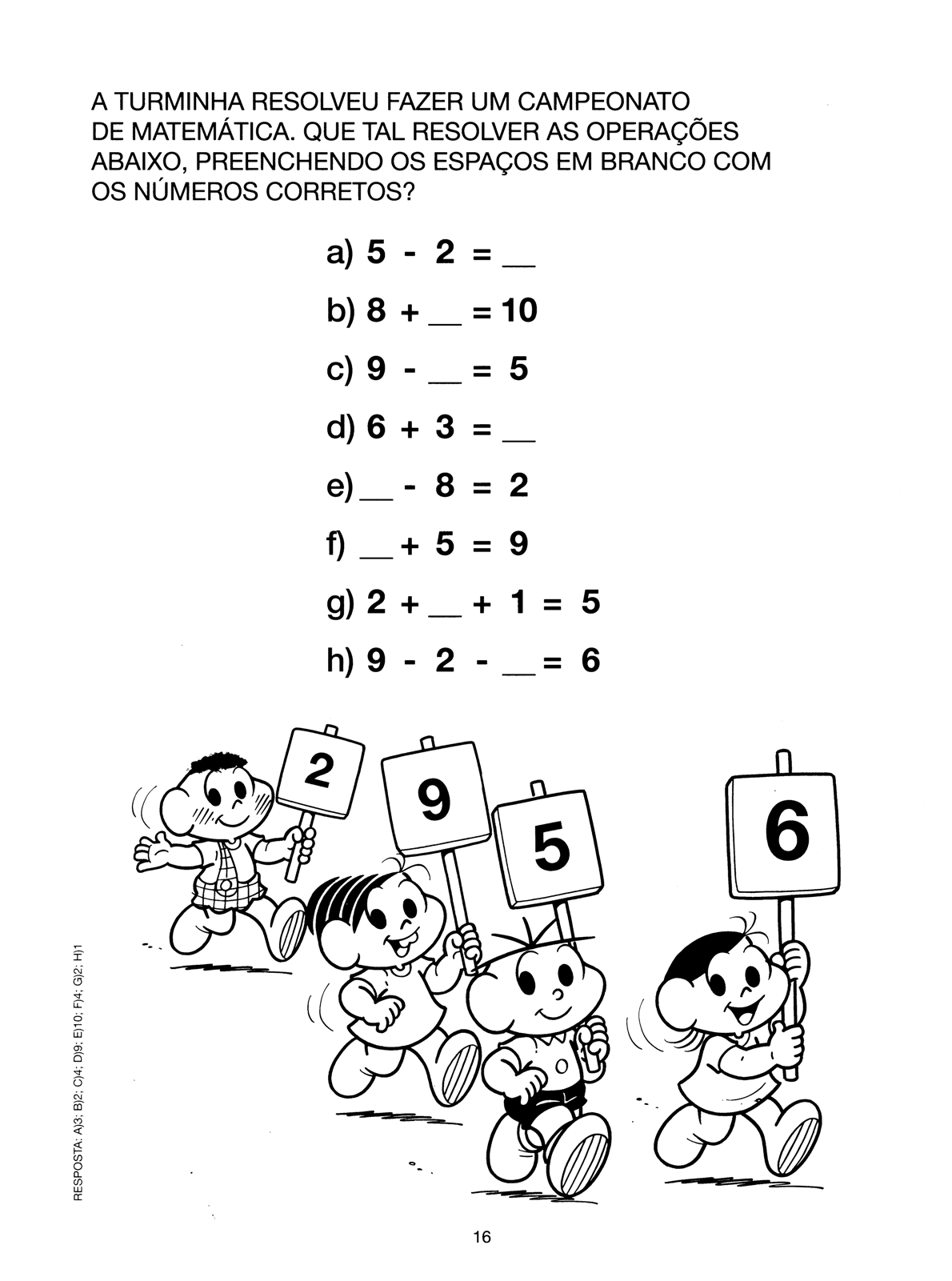Atividades Turma Da Monica Numeros E Matematica