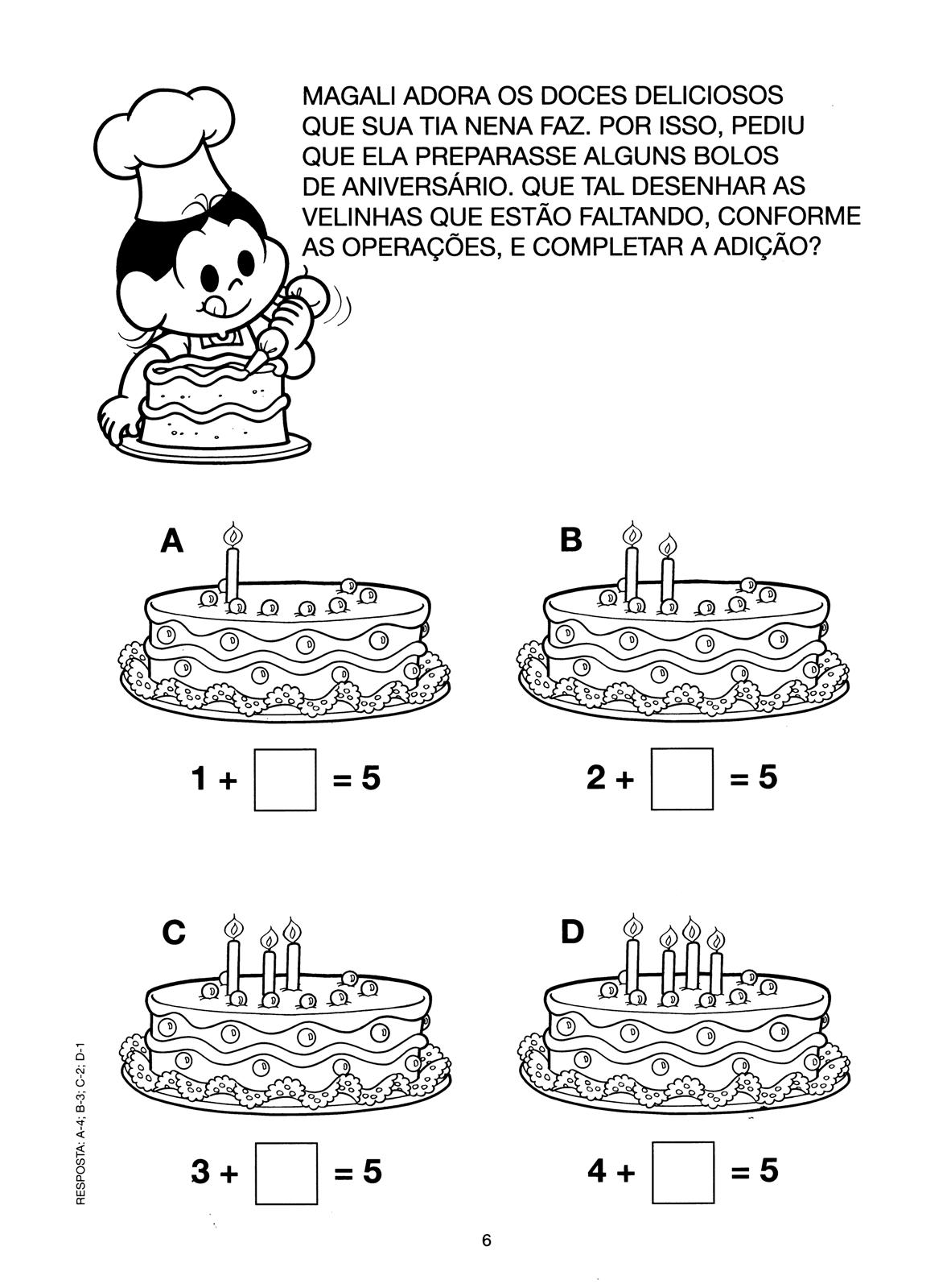 Conhecido Atividades Turma da Mônica - Números e Matemática TC22