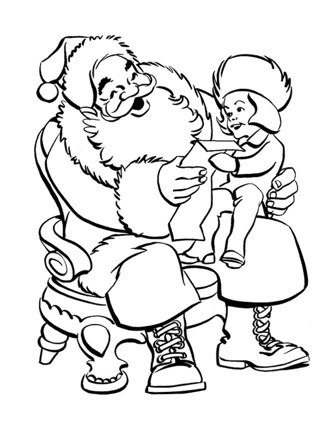 Desenhos Para Colorir Pintar E Imprimir De Papai Noel