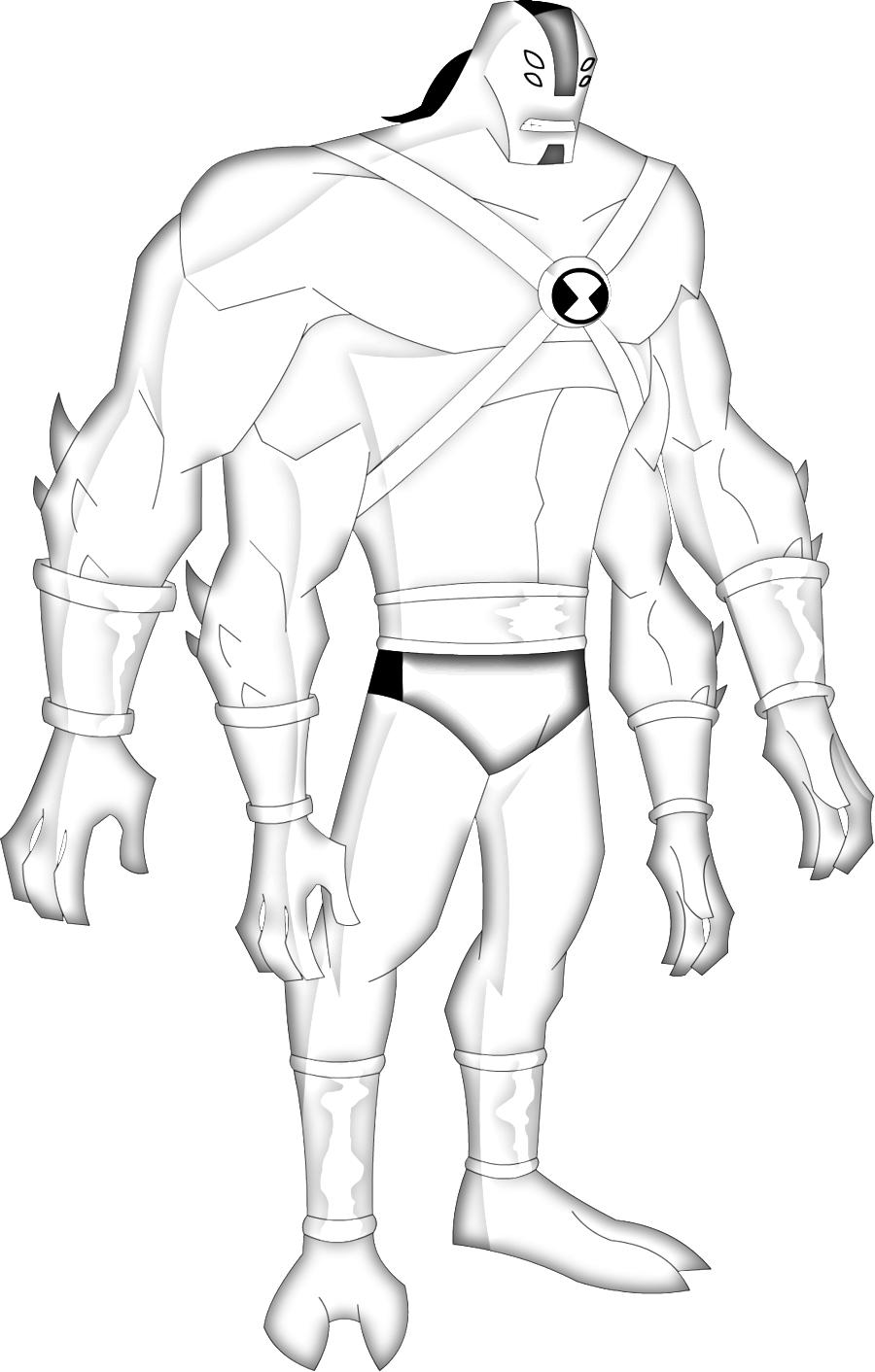 desenhos para colorir ben 10 supremacia alienígena