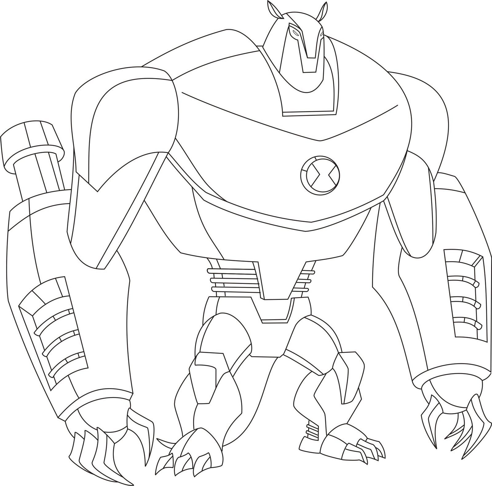 Desenhos para colorir - Ben 10 Supremacia Alienígena