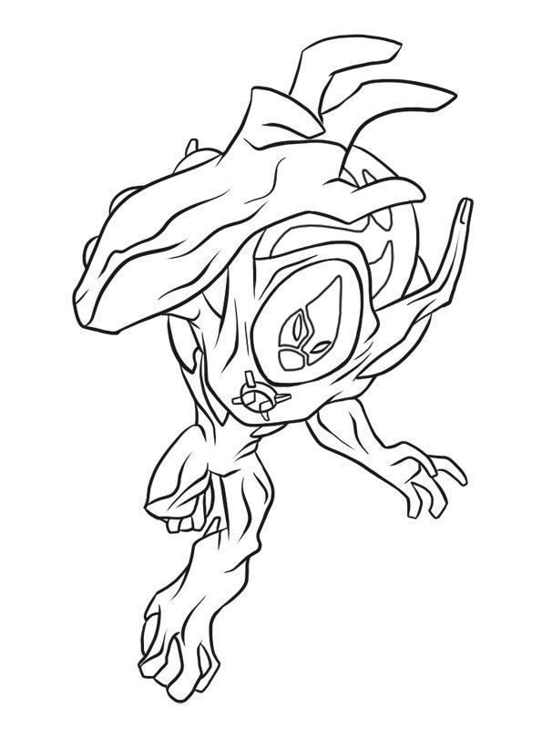 Desenhos Para Imprimir E Colorir De Ben 10 Supremacia Alien  Gena