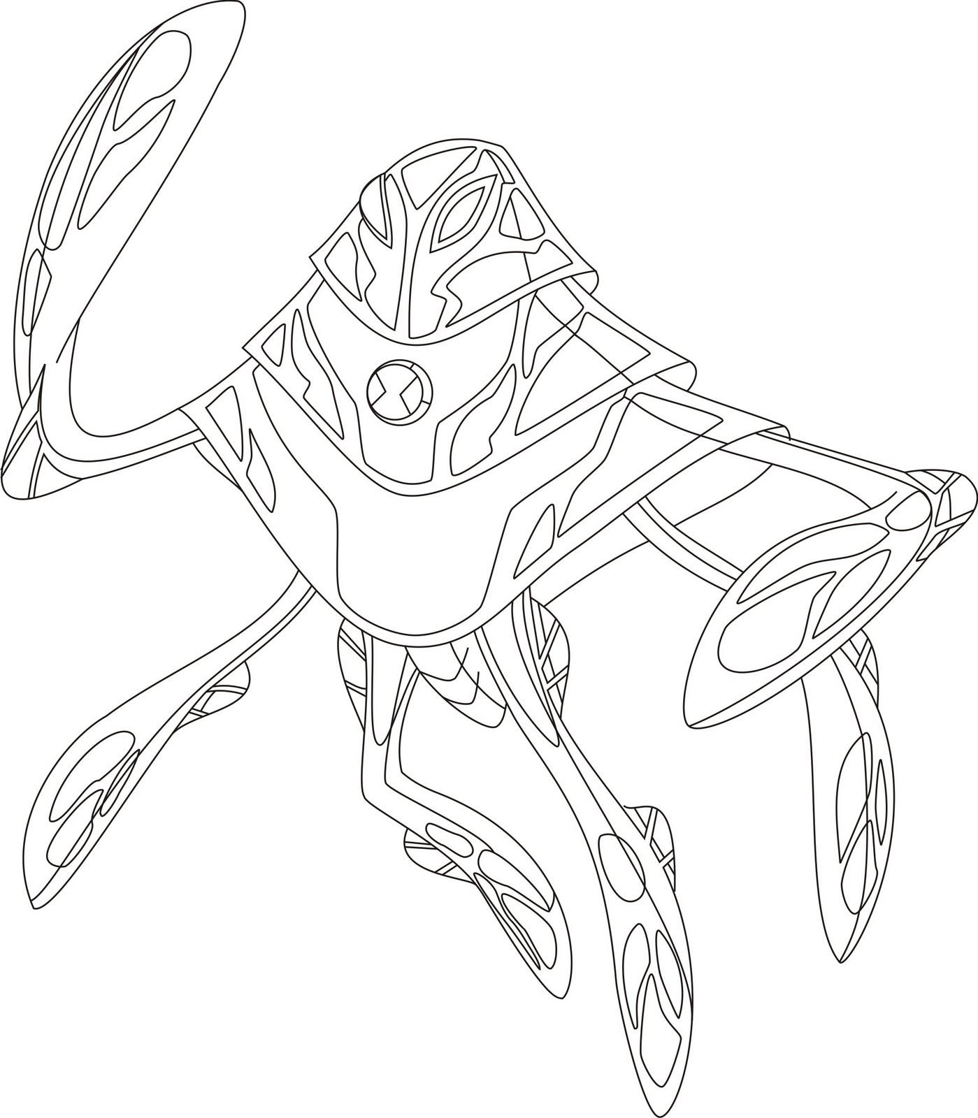 Desenhos Para Colorir     Ben 10 Supremacia Alien  Gena