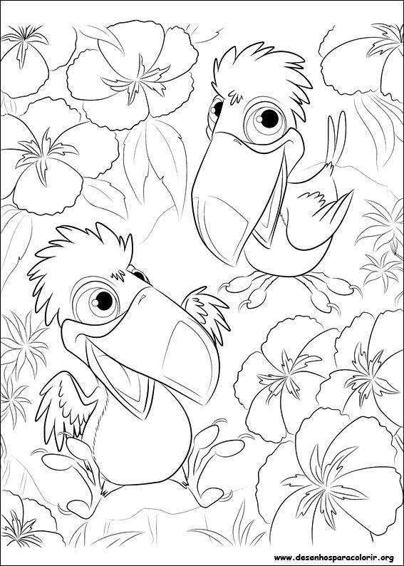 desenhos para imprimir colorir e pintar de rio o filme