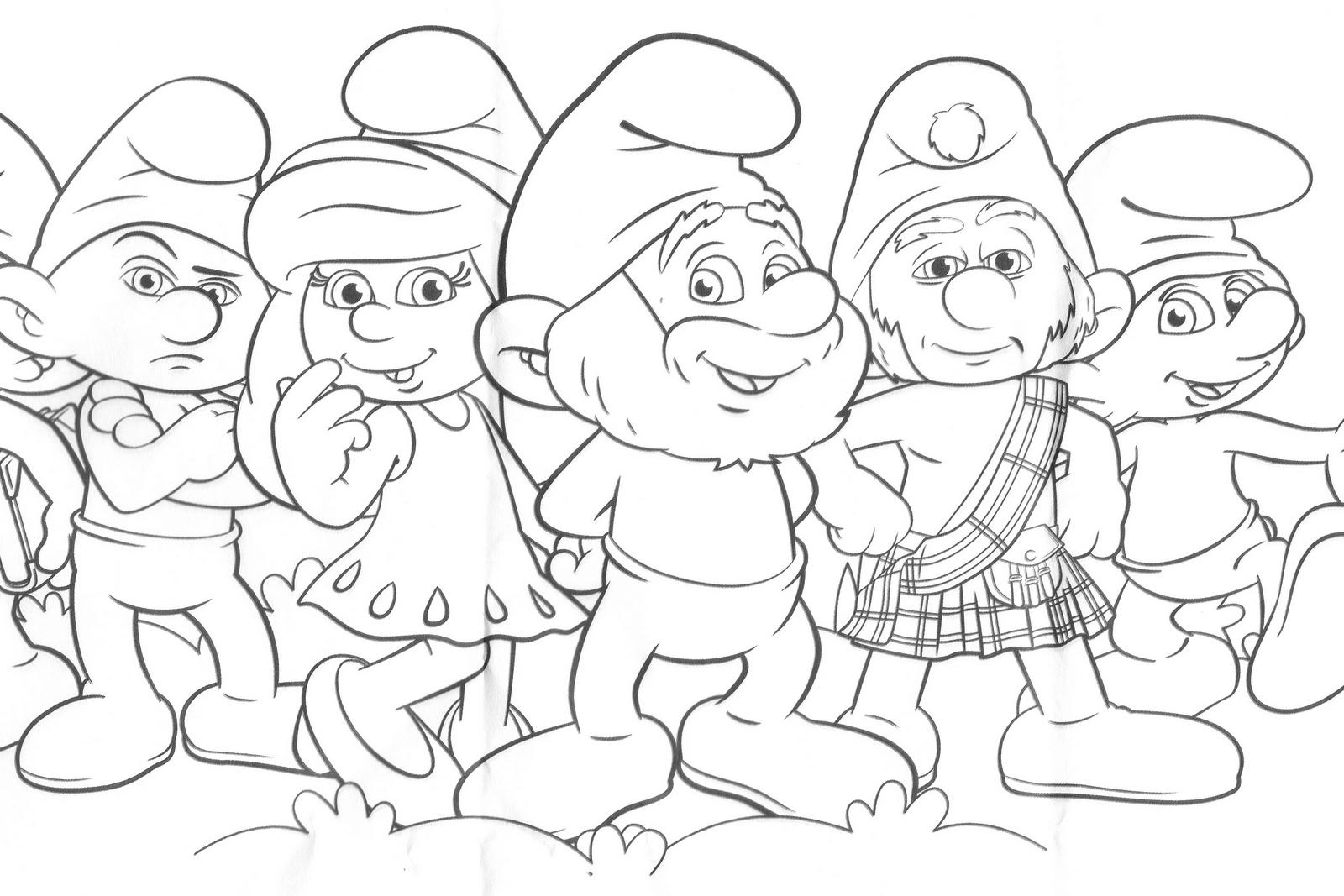 Desenhos Para Imprimir, Colorir E Pintar Dos Smurfs