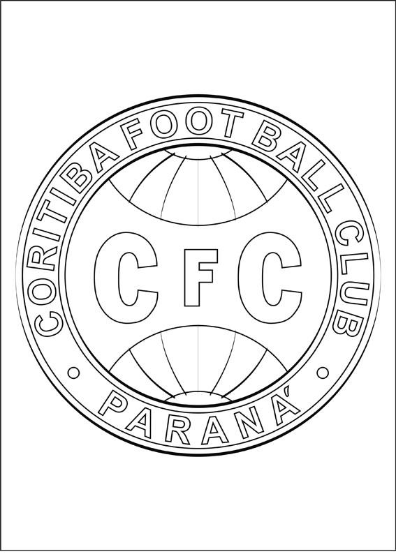 desenhos para colorir escudos de times de futebol símbolos