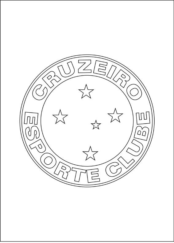 Desenhos Para Colorir Escudos De Times De Futebol Simbolos
