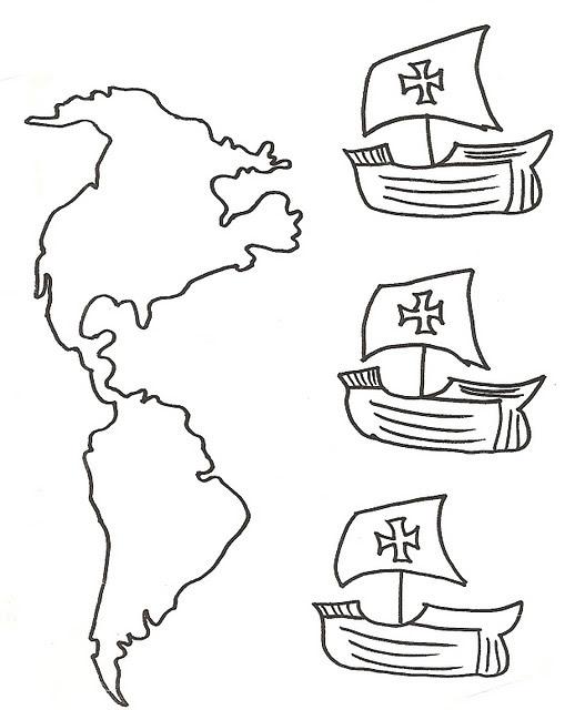 Desenhos Para Colorir Descobrimento Da America