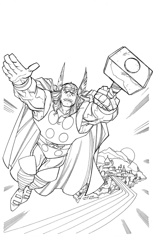 Desenhos Para Imprimir Colorir E Pintar Do Thor