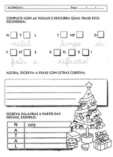 Atividades De Natal Para O Ensino Fundamental