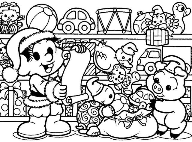 Atividade Desenhos De Natal Da Turma Da Mônica Para Colorir