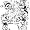 Colorir Natal Turma da Mônica 02