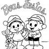 Colorir Natal Turma da Mônica