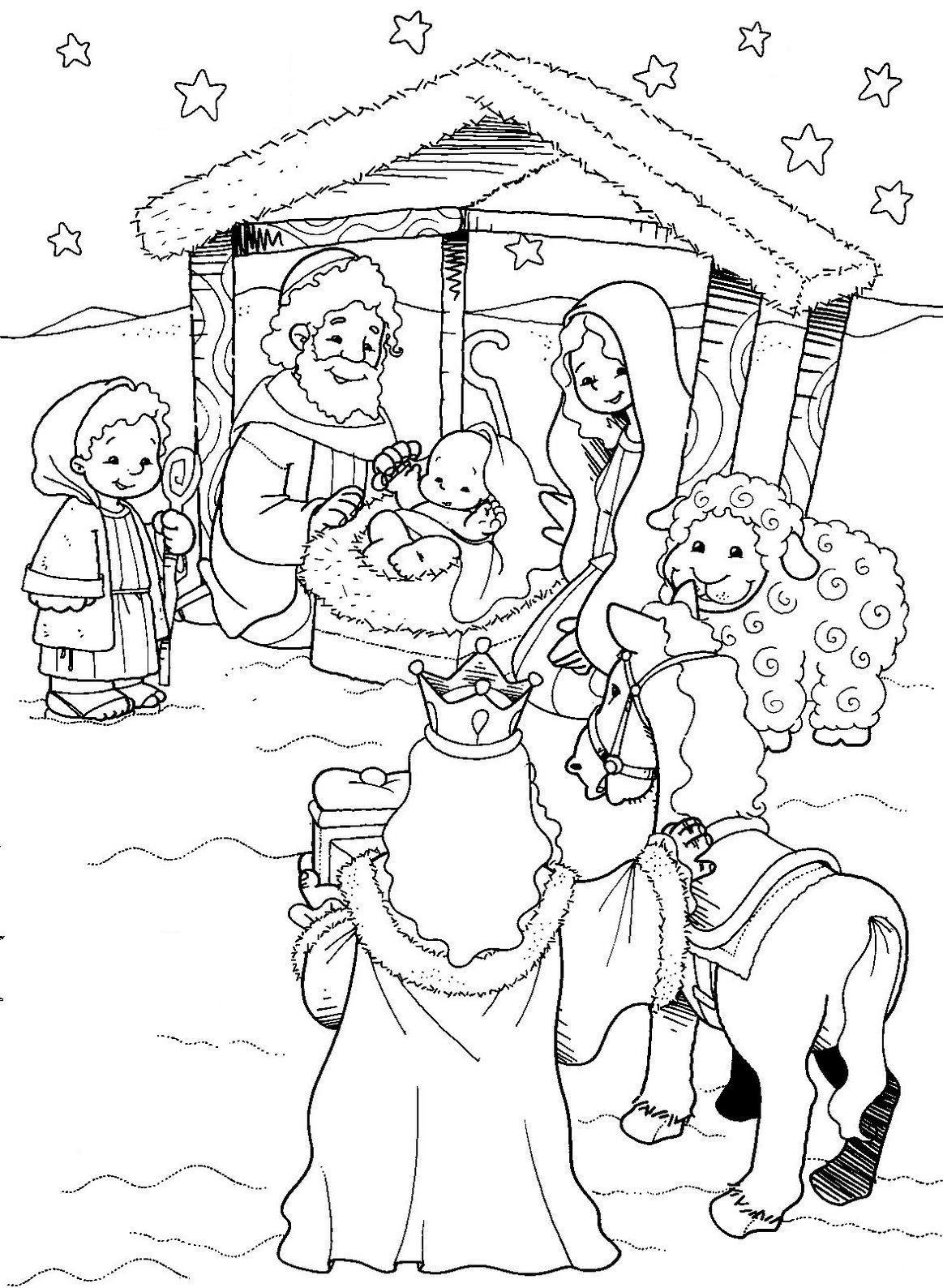 Natal Desenhos Para Colorir De Presepios
