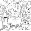 Desenhos de Natal - Presépios 06