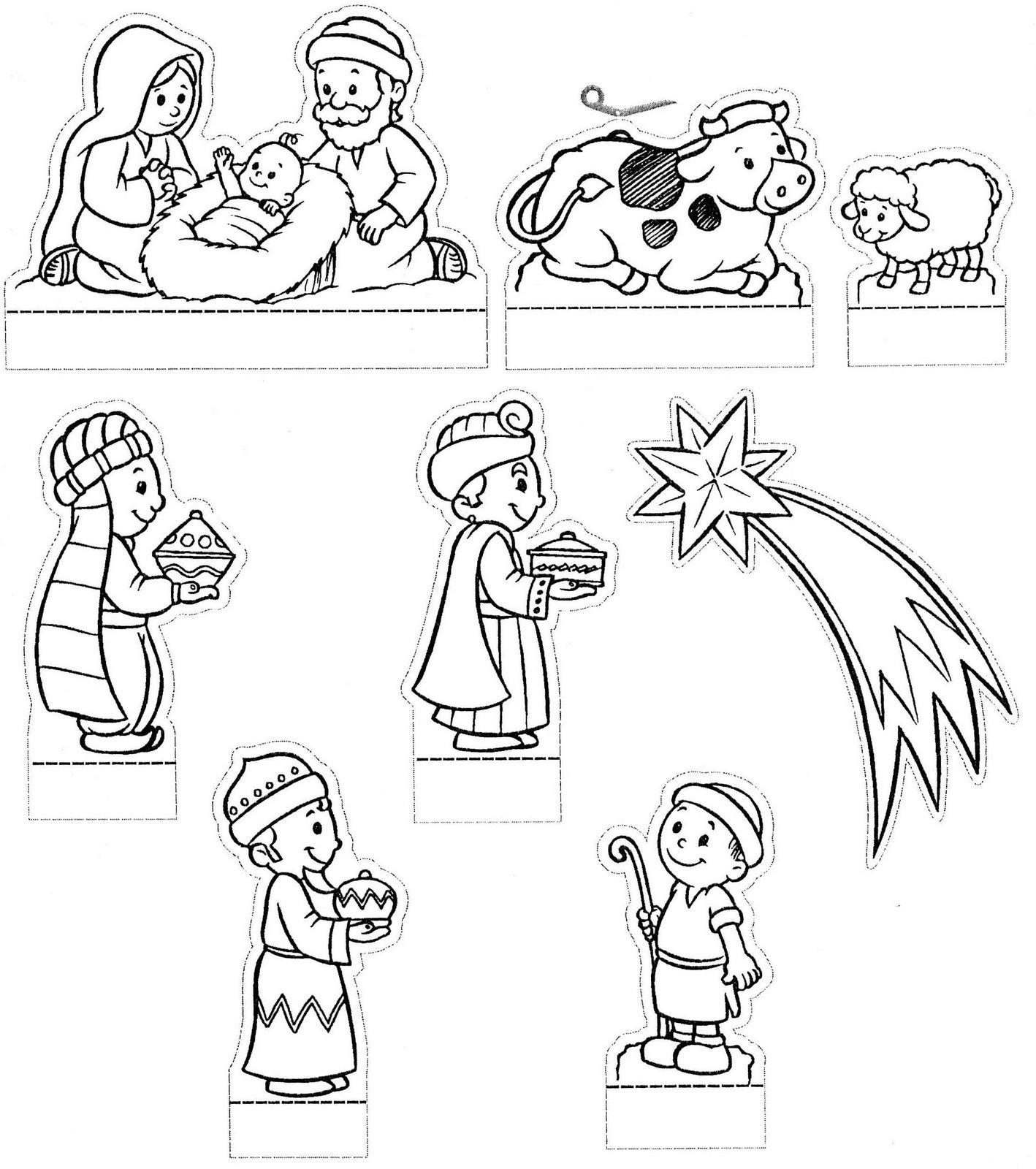 Natal desenhos para colorir de pres pios - Figuras belen infantil ...