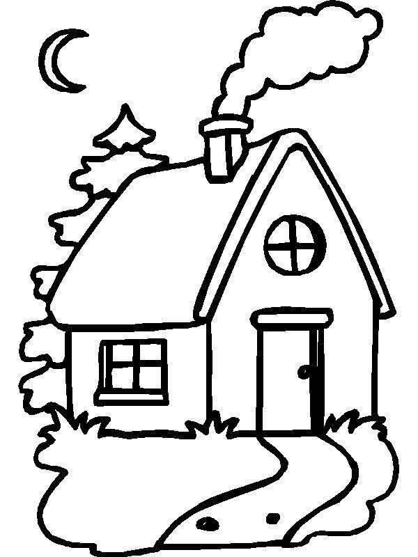 Desenhos para imprimir colorir e pintar de casas for My family home page