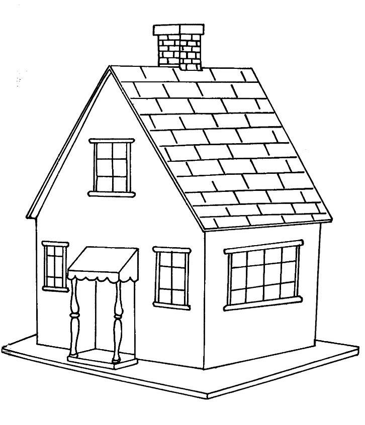 Desenhos para imprimir colorir e pintar de casas - Presupuesto para pintar una casa ...