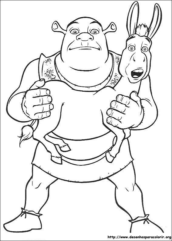De Desenhos Para Imprimir E Colorir Shrek 1 Um Dos Filmes